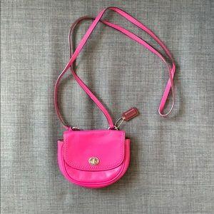 Coach Hot Pink Mini Purse